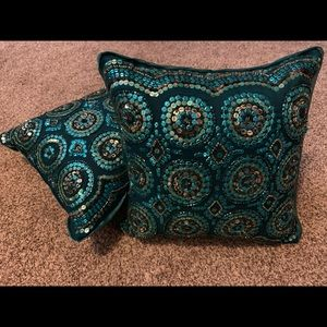 Pier One Beaded Decorative Pillow